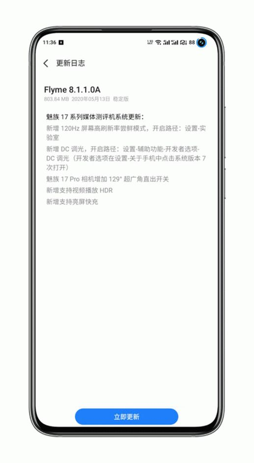 Meizu 17 Pro 120Hz OTA Update Media Review Device
